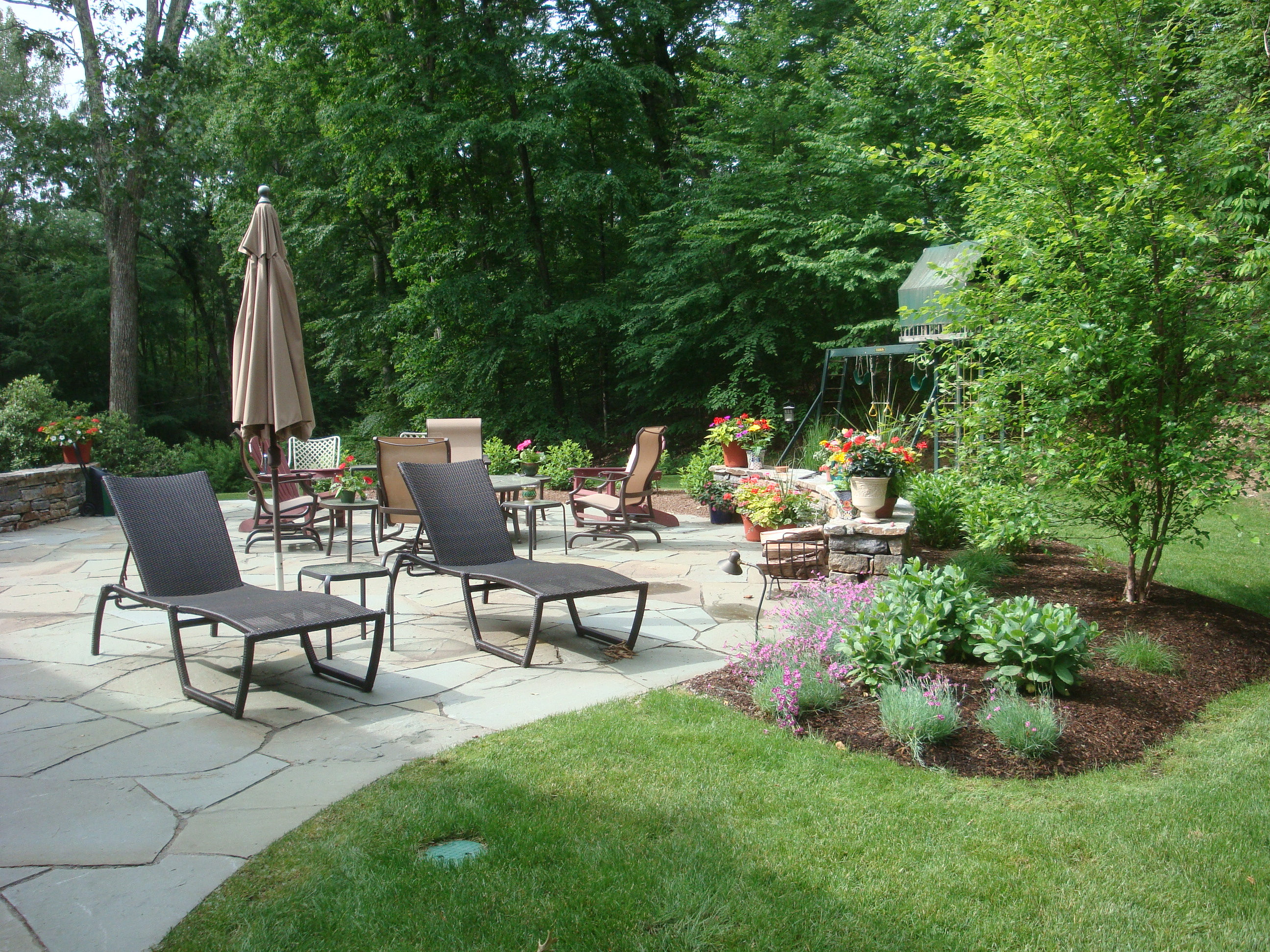 Patios garden designers roundtable for Outside landscape design